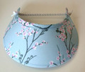 Oriental Flowers on Pale Blue Jumbo Peak Flexi Visor