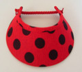 Red with Black Spots Jumbo Peak Flexi Visor
