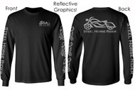 Reflective Graphic Long Sleeve Men's Motorcycle Shirt