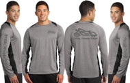 Steel Horse Rider Wicking REFLECTIVE Long Sleeve Motorcycle Shirt (Graphics protected by copyright laws, unauthorized use is prohibited)