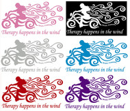 """Therapy Happens In The Wind 6"""" Weatherproof Decal by Steel Cowgirl Graphics are copyright protected, unauthorized use is prohibited."""