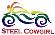 """5"""" Rainbow Motorcycle Window Decal / Sticker by Steel Cowgirl (graphics are protected by copyright laws, unauthorized use is prohibited)"""
