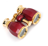 Opera Glasses - Traditional - Burgundy & Gold- 4x30