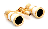 Opera Glasses- White  w/ Flashlight