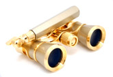 Titanium &amp; Gold Opera Glasses- w/ Lorgnette Handle