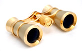 Opera Glasses- Traditional  Titanium / Gold
