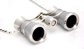 Opera Glasses- Platinum &amp; Silver w/ Chain