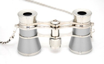 Opera Glasses- Platinum & Silver w/ Chain