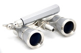 Platinum &amp; Silver Opera Glasses w/ Lorgnette Handle + Reading Light