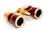 Opera Glasses- Burgundy w/ Flashlight