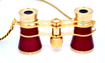 Opera Glasses- Burgundy w/ Chain