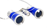 Opera Glasses- Blue  w/ Chain