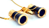 Opera Glasses- Black w/ Chain + Flashlight