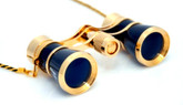 Opera Glasses- Black w/ Chain