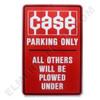 CA001PARK Case Tractors Parking Sign