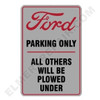 FO003PARK   Ford Red/Gray Parking Sign