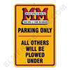 MM001PARK   Minneapolis Moline Parking Sign