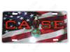 CA011-LP  Case Old Abe on US Flag License Plate