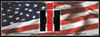 IH006-BAN  IH Logo on USA Flag Banner