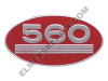 ER- 369127R1 560 Gas Oval Side Emblem