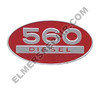 ER- 369129R1 560 Diesel Oval Side Emblem
