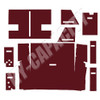 ER- C86M Cab Interior Kit without Headliner - Maroon