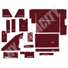 ER- C88M Cab Interior Kit without Headliner - Maroon