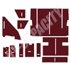 ER- C883M Cab Interior Kit without Headliner - Maroon
