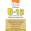 Bio Nutrition Sublingual B-12 - 50 Tablets Cherry Flavor  - Methylcobalamin 6,000 mcg