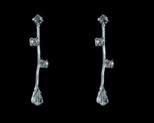 Silver and Clear Crystal Medium Earring