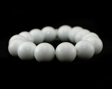 Solid White Pearl Stretch Bracelet