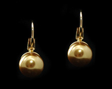 Single Bronze Pearl Earring (10mm) (Brown)