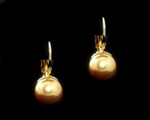 Single Gold Pearl Earring (10mm) (Brown)