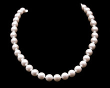 Single Strand White Pearl Necklace (12MM)
