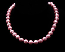 Single Strand Pink Pearl Necklace (10MM)