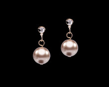 Taupe Pearl Drop Earrings (brown)