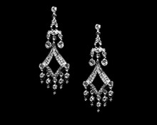 Classic Clear Crystal and Silver Chandelier Earrings