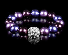 Formal Deep Purple Pearl Stretch Bracelet