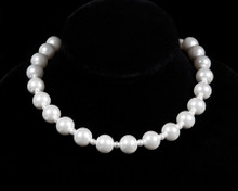 White Pearl Necklace with Small & Large Pearls