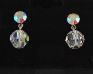 Clear jewelry necklace earring set Little Black Crystal Dress/Clear Crystal Y;Brides/Clear Crystal Drop