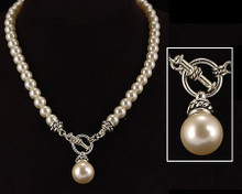 Designer style White Pearl Necklace
