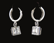 Clear jewelry necklace earring set Little Black Crystal Dress/Diamondesque