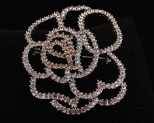Lavender and Pink Designer Style Flower Pin/Brooch