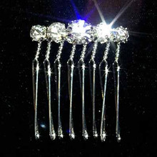 Crystal and Sterling Silver Graduated Comb