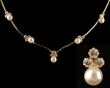 Understated Gold and Ivory Pearl Necklace