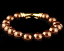 Bronze Pearl Bracelet (Brown) (10mm)