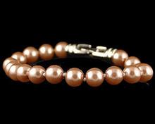 Taupe Pearl Bracelet. (Brown)