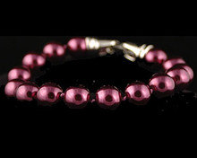 Eggplant color pearl bracelet (purple)