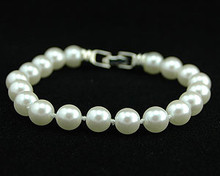 White Pearl with Silver Clasp Bracelet