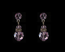 Lavender Austrian Crystal Earring (purple)